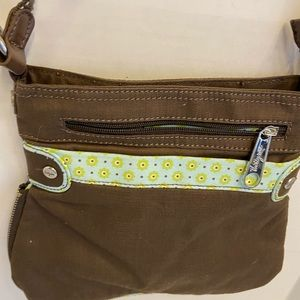 New thirty one 31 crossbody brown floral